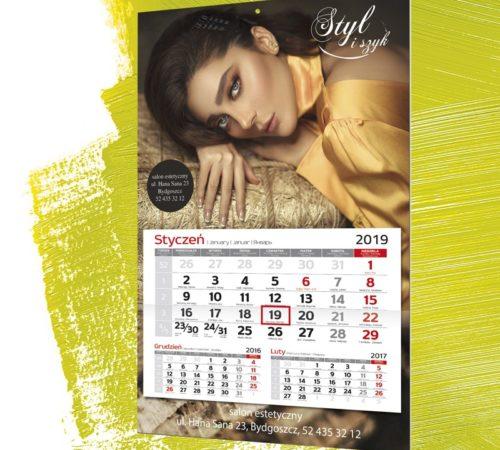 Kalendarz jednodzielny klasyczny A3 MAX salon
