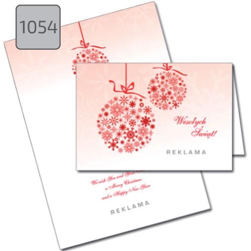 Kartki świąteczne bombki i ozdoby