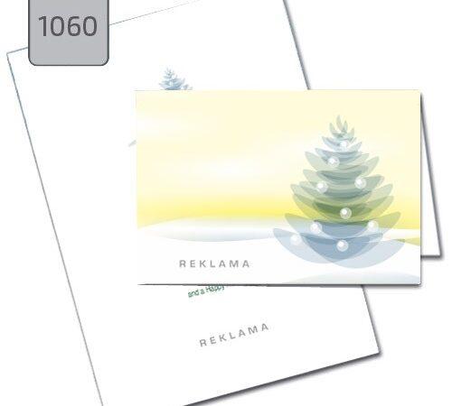 firmowe kartki świąteczne 1060 choinka jasno-żółte tło
