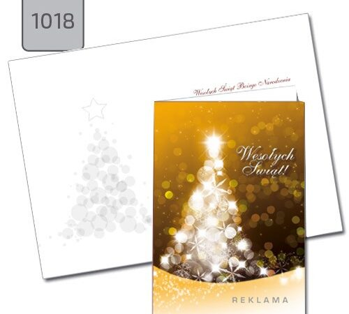 firmowe kartki świąteczne A6 z życzeniami 1018 choinka