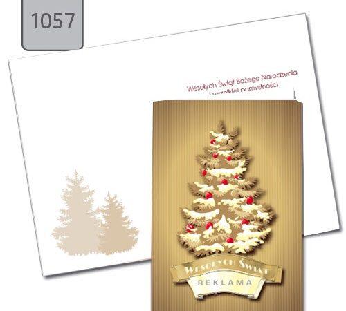kartki firmowe A6 Święta Bożego Narodzenia choinka 1057