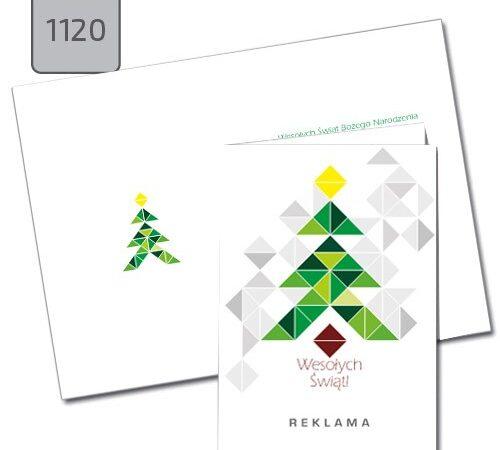 kartka świąteczna bożonarodzeniowa z choinką A6 1120