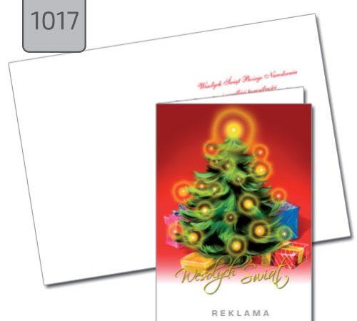 kartka świąteczna z choinką i życzeniami 1017 drukarnia DobryDruk.pl