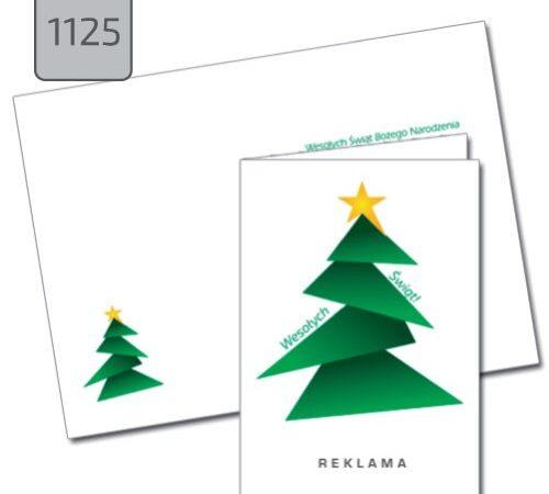 biznesowa kartka świąteczna z choinką 1125 DobryDruk.pl