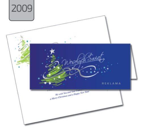 kartka świąteczna Boże Narodzenie choinka 2009