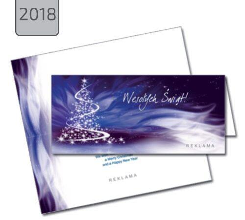 firmowa kartka świąteczna z choinką 2018