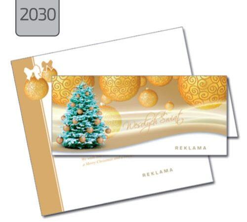 kartka świąteczna dla firmy 2030 drukarnia DobryDruk.pl
