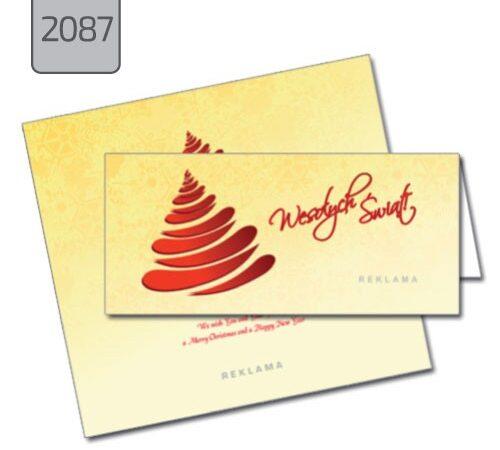 kartka świąteczna z choinką dla firm 2087