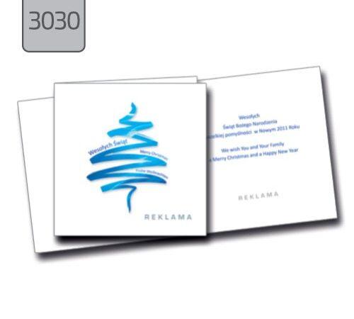 biznesowe kartki świąteczne dla firm z logo 3030 choinki