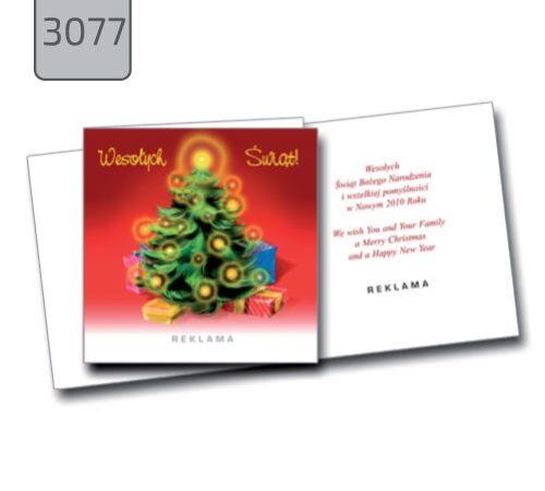 firmowe kartki świąteczne Boże Narodzenie 3077 choinka
