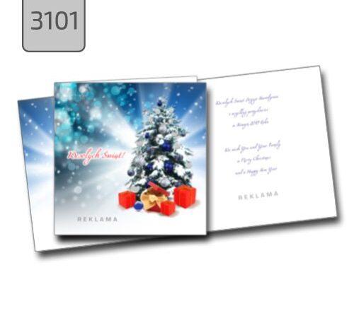 kartka świąteczna kwadratowa z choinką 3101