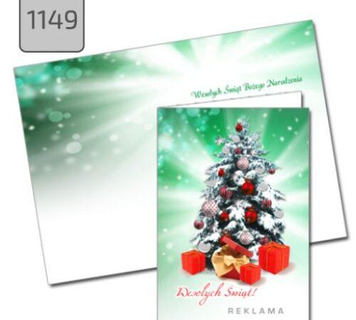 kartka świąteczna choinka format A6 1169 DobryDruk.pl