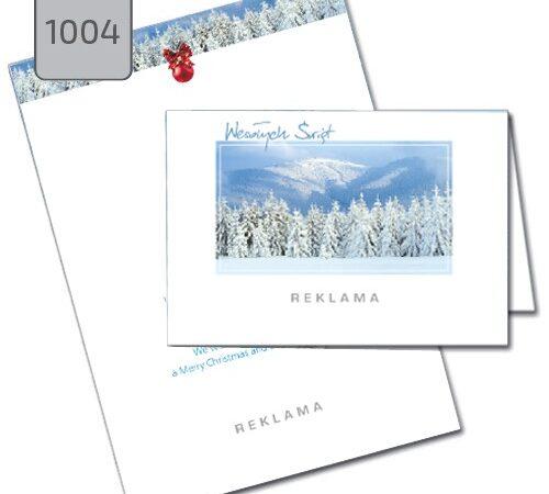 kartki świąteczne dla firm pejzaż zimowy 1004 drukarnia DobryDruk.pl