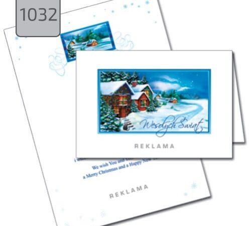 kartki świąteczne firmowe z pejzażem 1032
