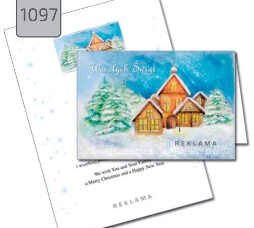 kartka firmowa pejzaż świąteczny 1097 drukarnia DobryDruk.pl