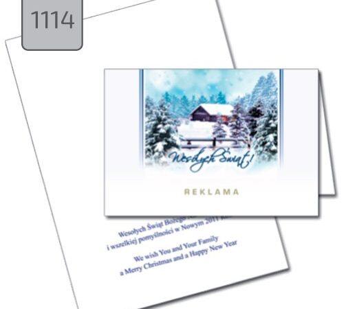 kartka świąteczna 1114 pejzaż zimowy
