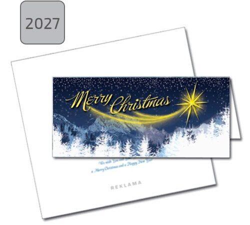 Kartka świąteczna Merry Christmas 2027 zima gwiazka