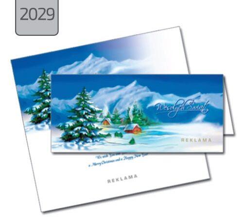 kartka świąteczna składana pozioma 2029