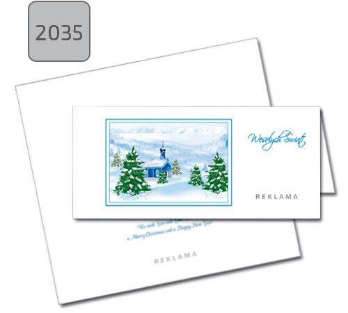 kartka z nadrukiem firmowym świąteczna 2035 zima