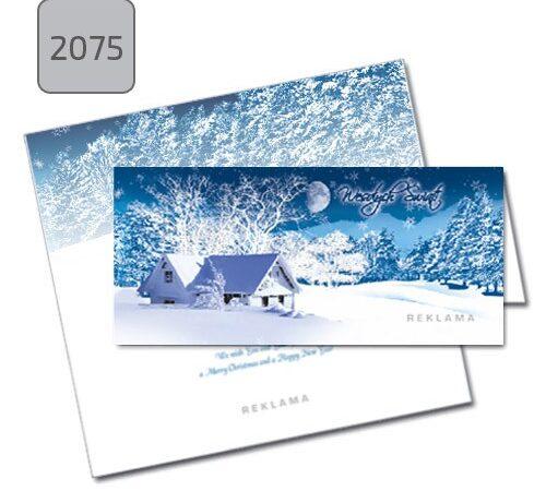 kartka świąteczna składana z pejzażem zimowym 2075 drukarnia DobryDruk.pl