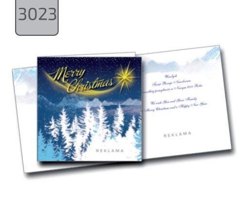 kartka świąteczna Merry Christmas 3023 zima gwiazda choinki