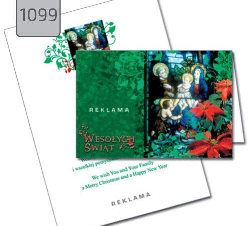 kartka świąteczna ze żłóbkiem Boże Narodzenie 1099