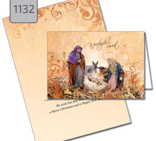 kartka świąteczna ze żłobkiem Boże Narodzenie 1132