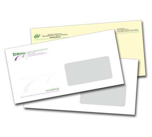 koperty firmowe z okienkiem format DL
