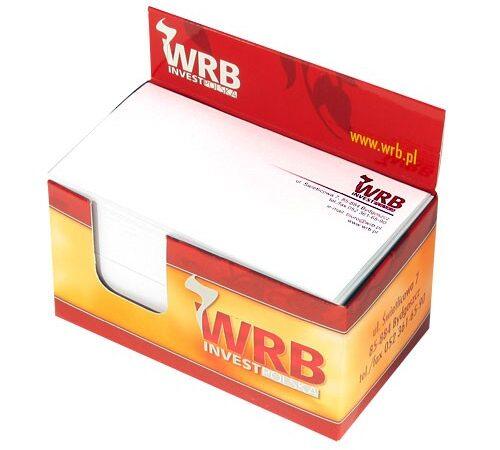 kostka reklamowa z karteczkami WRB