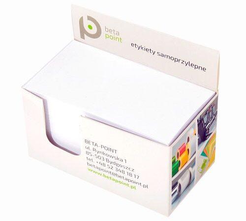 karteczki firmowe z kostce Beta Point