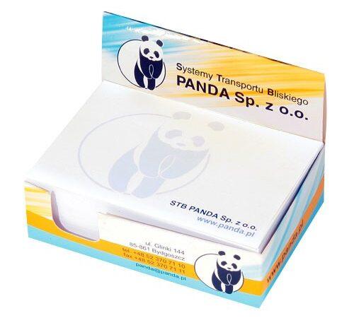 kostka notesowa firmowa Panda