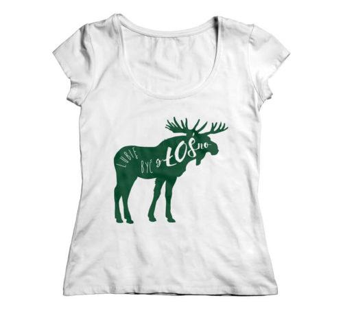 koszulka damska koloru białego z nadrukiem - lubię być zŁOŚna
