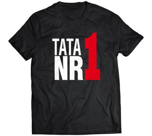 koszulka męska koloru czarnego z nadrukiem - tata nr 1