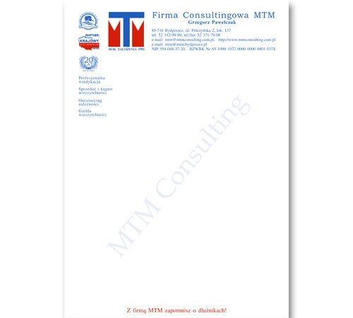 druk firmowy A4 MTM