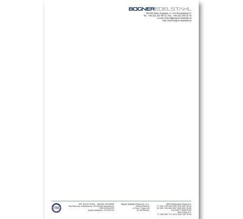 papier firmowy A4 Bogner