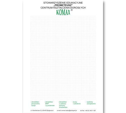 papier firmowy Komax