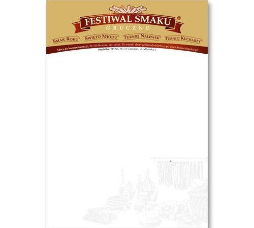 Festiwal Smaku Gruczno listownik A5