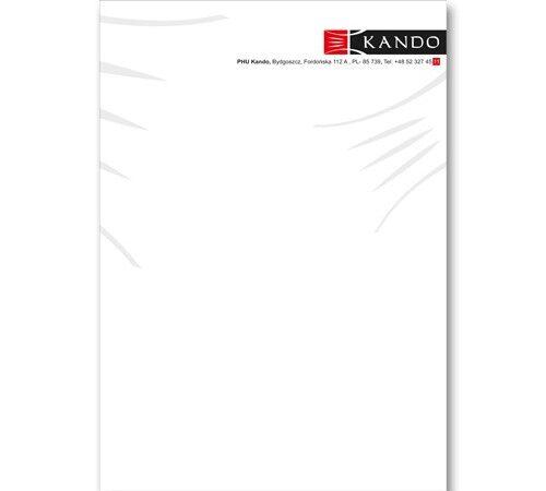 papier firmowy Kando format A5