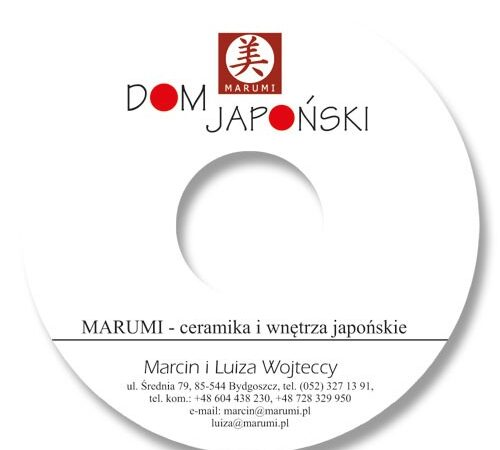naklejka na płytę cd Dom Japoński