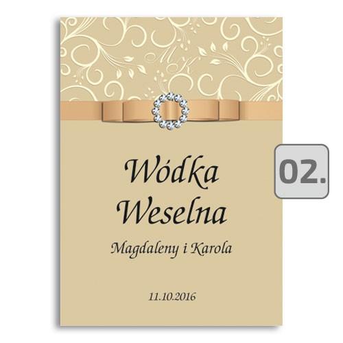 Naklejki na wódkę weselną