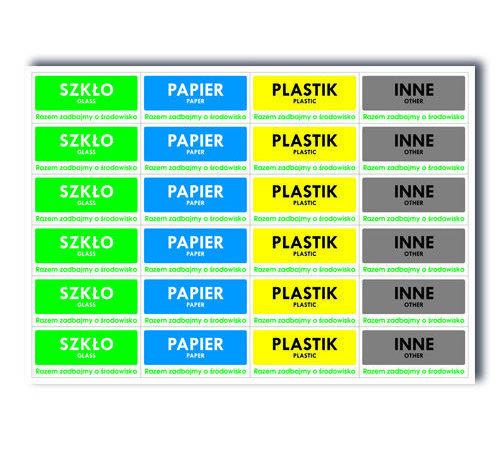 etykiety z nadrukiem prostokątne