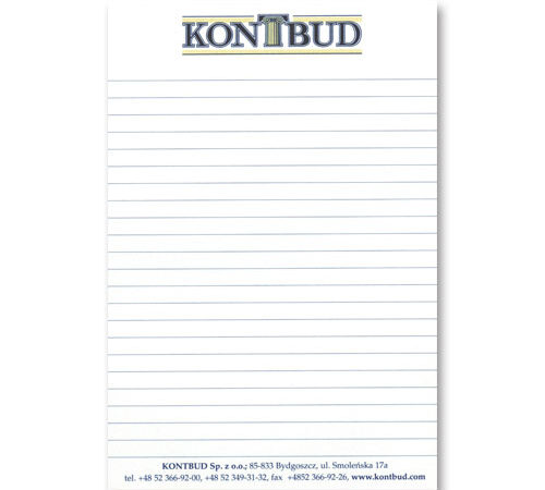 notes A6 kontbud