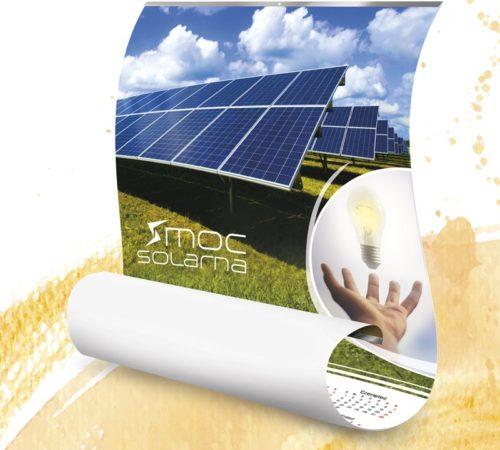 kalendarz plakatowy z listwą moc solarna