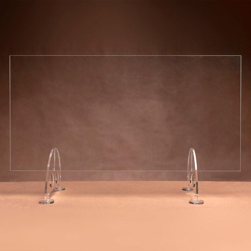 ochrona przeciwwirusowa - osłona antywirusowa z plexi stojąca, ekran przeciwwirusowy na ladę z pleksi