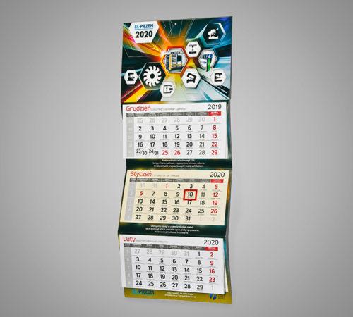 Kalendarz trójdzielny ekonomiczny EL-PRZEM