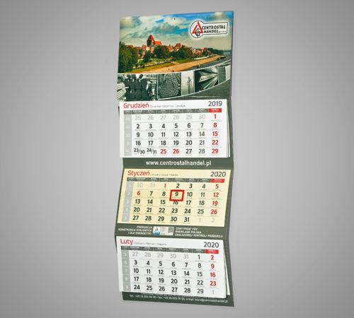 Kalendarz trójdzielny ekonomiczny CENTROSTAL