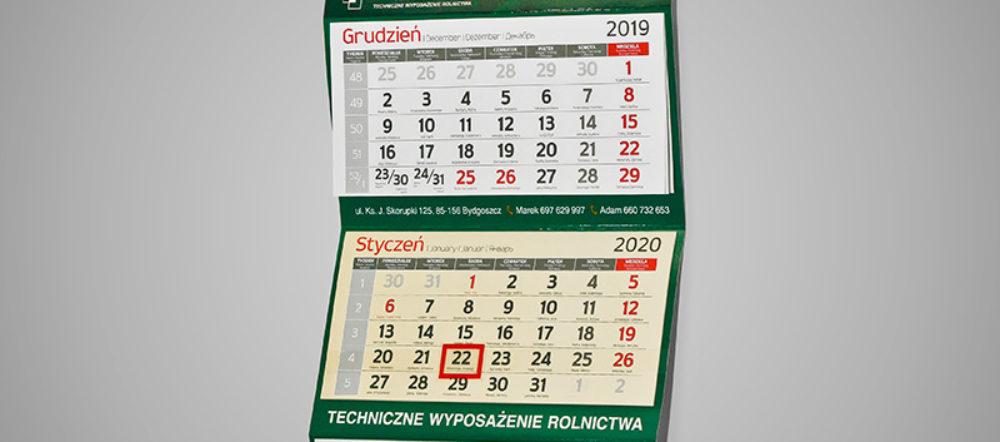 Kalendarz trójdzielny ekonomiczny JUST-MAR