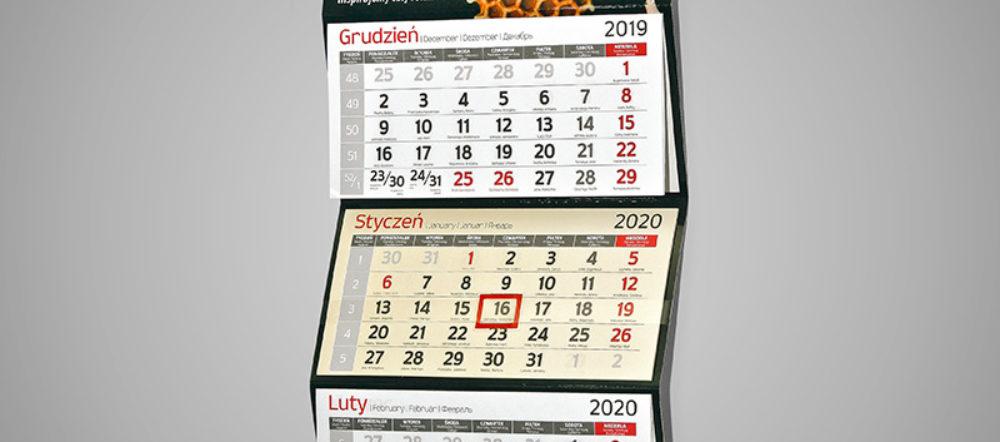 Kalendarz trójdzielny ekonomiczny AKO