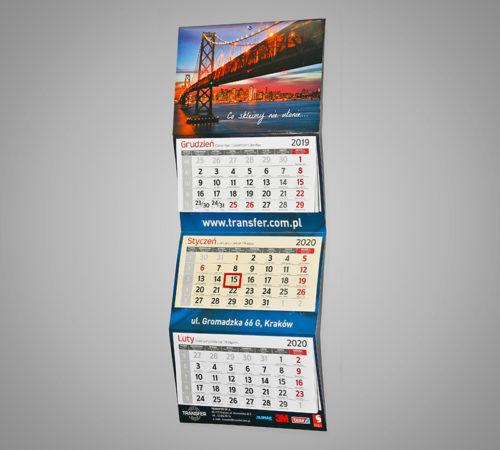 Kalendarz trójdzielny ekonomiczny TRANSFER