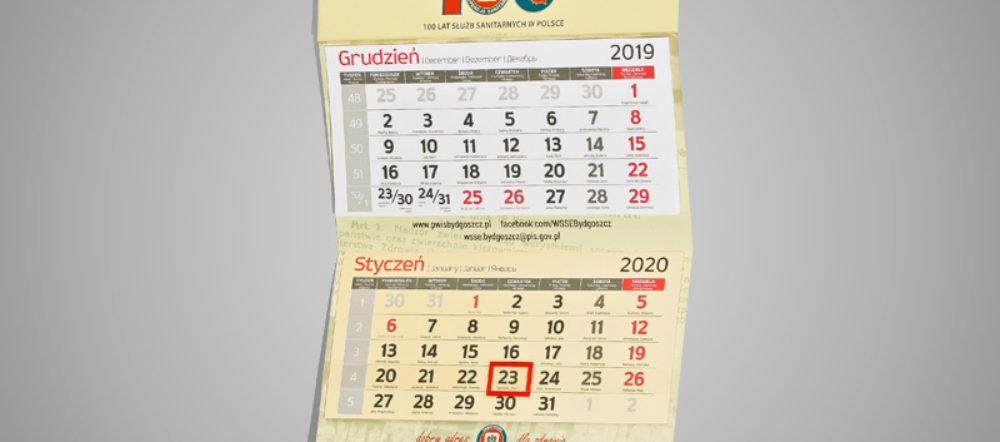 Kalendarz trójdzielny ekonomiczny WSSE SANEPID